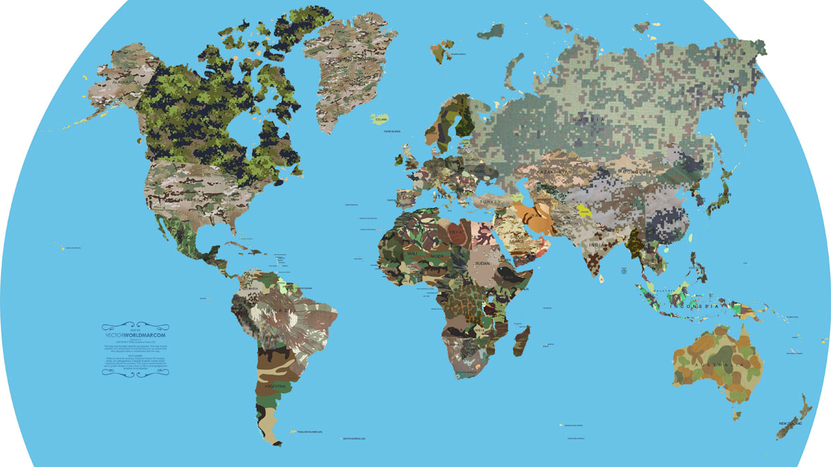 camouflages of the world map 32 Maps That Will Teach You Something New About the World