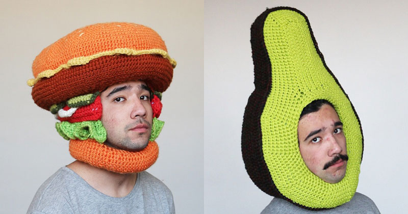 This Guy is Crocheting Food Hats and It'sAwesome