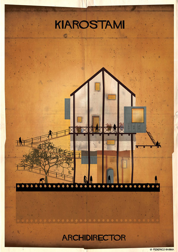 Federico Babina Imagines Architecture in the Film Style of Famous Directors (11)