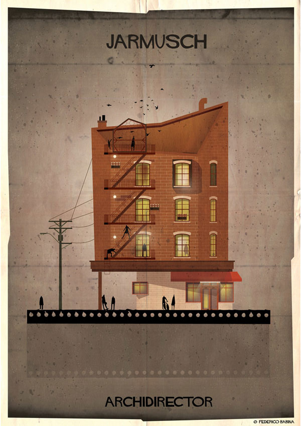 Federico Babina Imagines Architecture in the Film Style of Famous Directors (12)