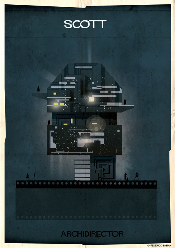 Federico Babina Imagines Architecture in the Film Style of Famous Directors (13)