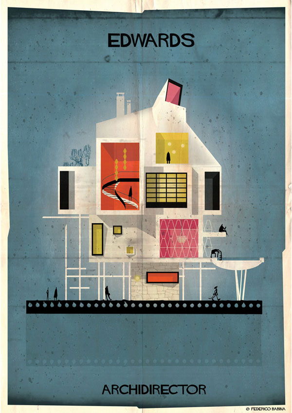 Federico Babina Imagines Architecture in the Film Style of Famous Directors (14)