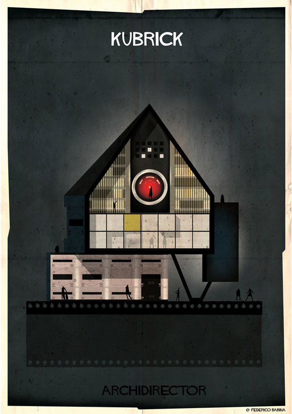 Federico Babina Imagines Architecture in the Film Style of Famous Directors (5)