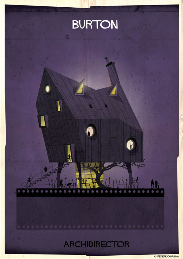 Federico Babina Imagines Architecture in the Film Style of Famous Directors (6)