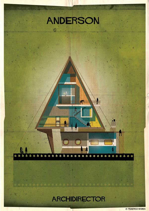 Federico Babina Imagines Architecture in the Film Style of Famous Directors (9)