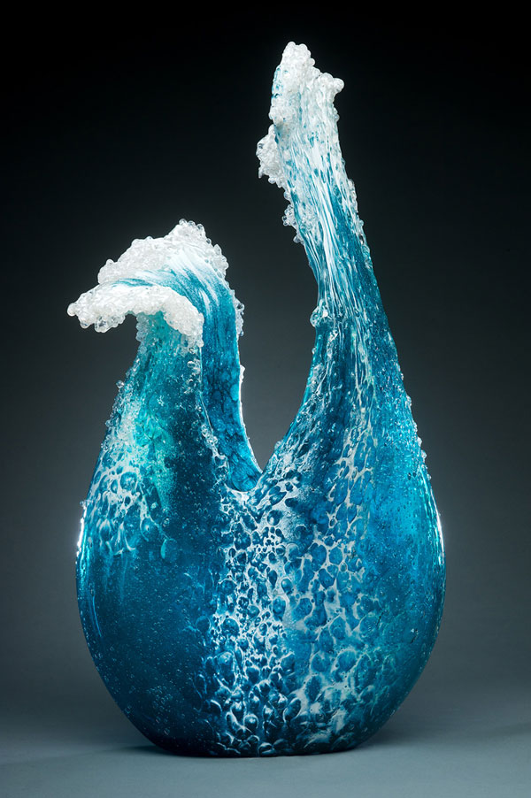 glass wave sculptures by paul desomma and marsha blaker (5)