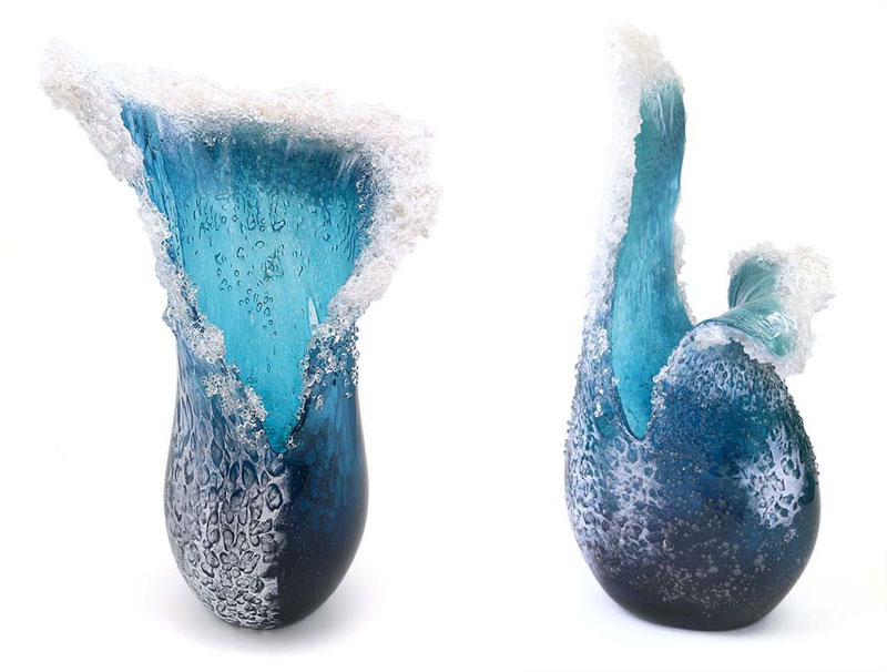glass wave sculptures by paul desomma and marsha blaker (8)