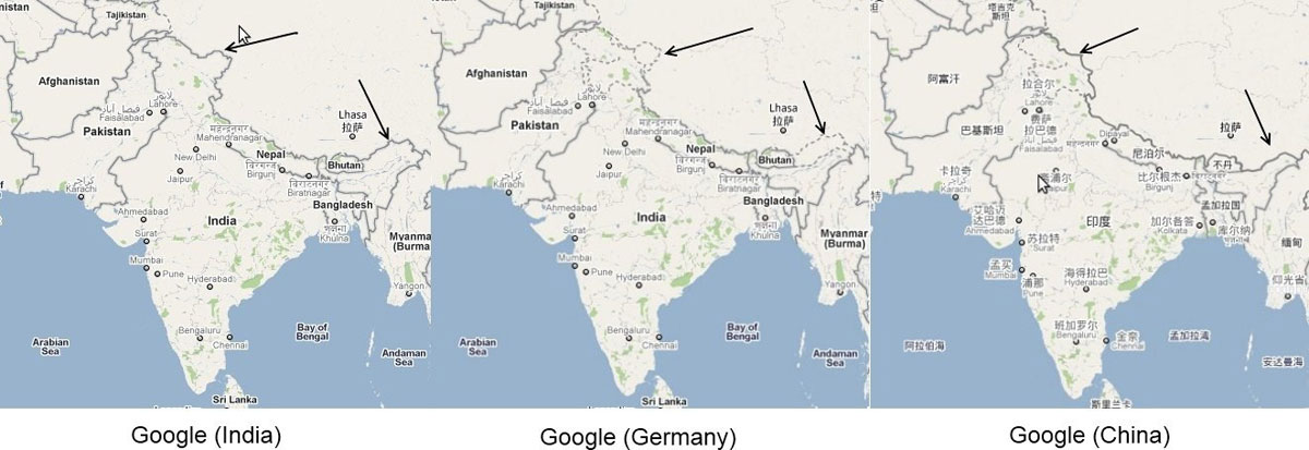 32 maps that will teach you something new about the world twistedsifter google maps different borders depending on country you are viewing from 32 maps that will teach gumiabroncs