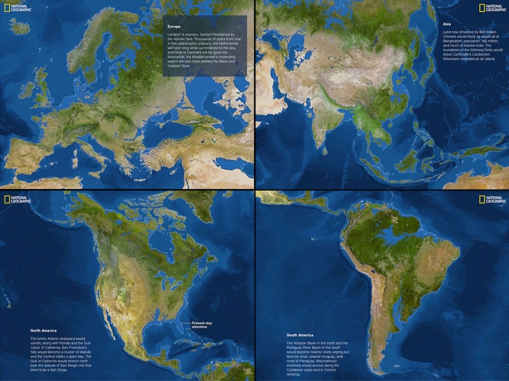if the polar ice caps melted national geographic 32 Maps That Will Teach You Something New About the World