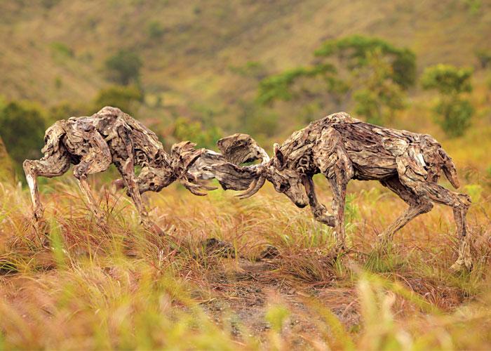 james doran webb driftwood animal sculptures (8)