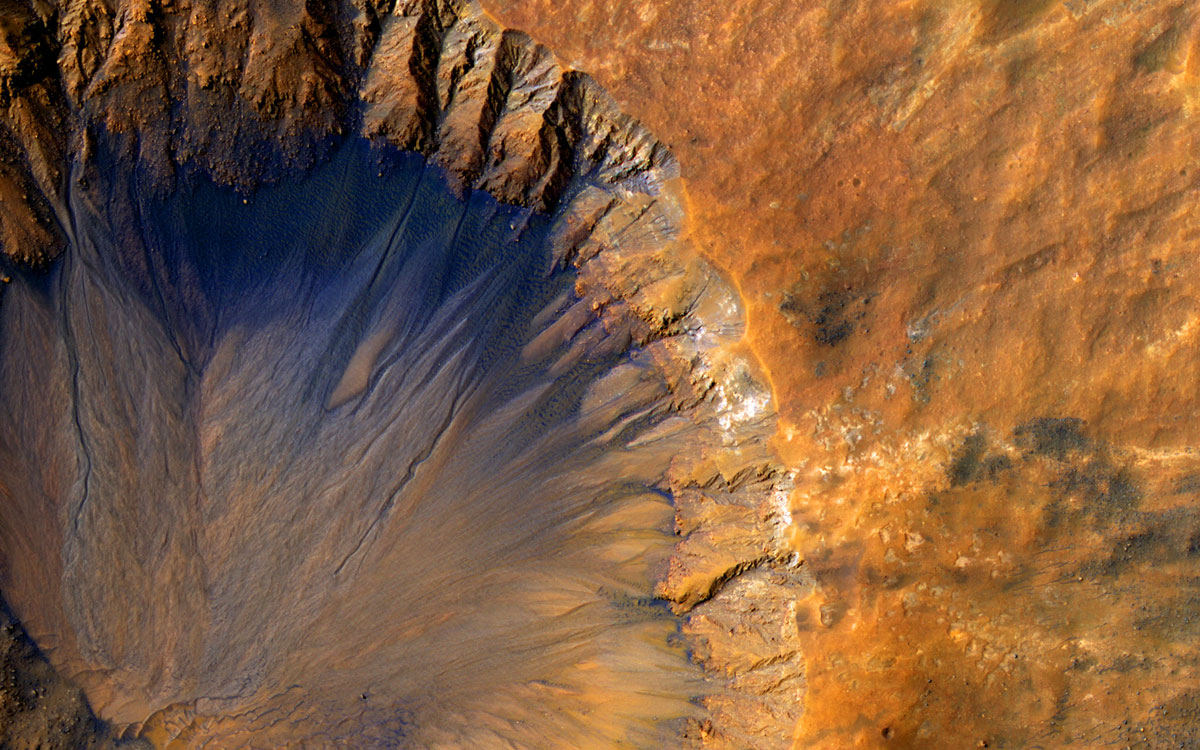 mars crater from above nasa Picture of the Day: Fresh Crater on Mars