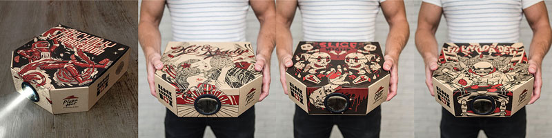 Pizza Box Turns Your Smartphone Into a Movie Projector (6)