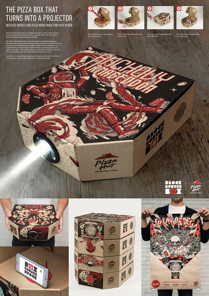Pizza Box Turns Your Smartphone Into a Movie Projector (7)