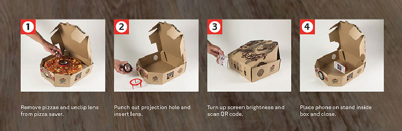 Pizza Box Turns Your Smartphone Into a Movie Projector (8)
