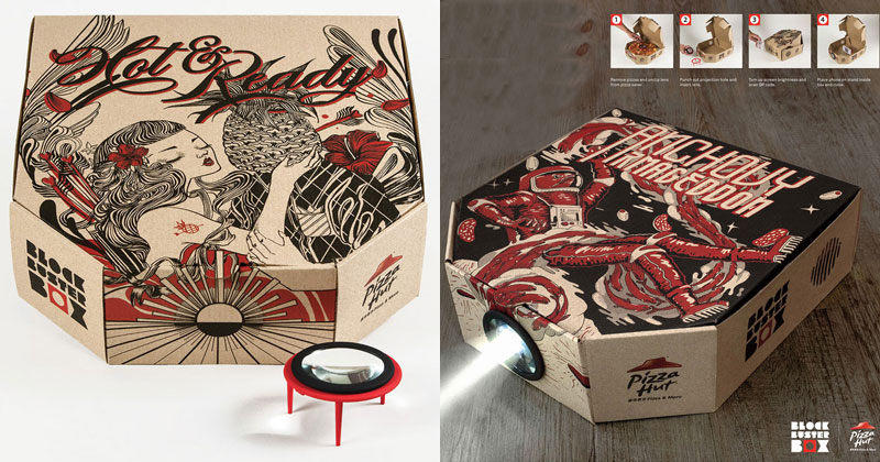 This Pizza Box Turns Your Smartphone Into a Movie Projector