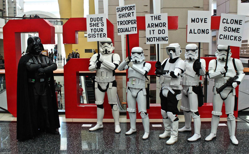 stormtrooper protest rally funny Picture of the Day: Meanwhile at the Stormtrooper Protest