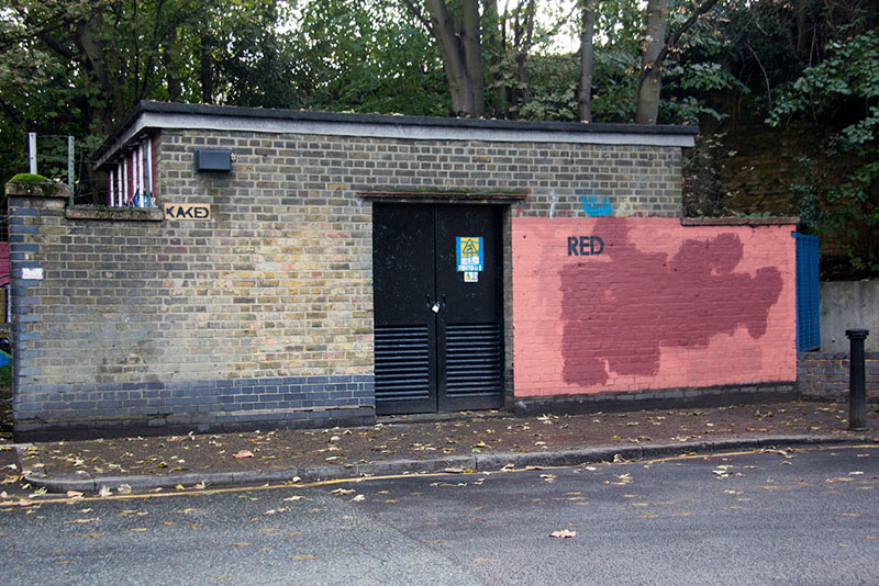 Street Artist mobstr and City Worker Have Year Long Exchange on Red Wall in London (11)