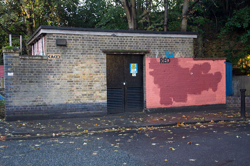 Street Artist mobstr and City Worker Have Year Long Exchange on Red Wall in London (14)