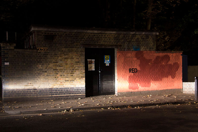 Street Artist mobstr and City Worker Have Year Long Exchange on Red Wall in London (7)