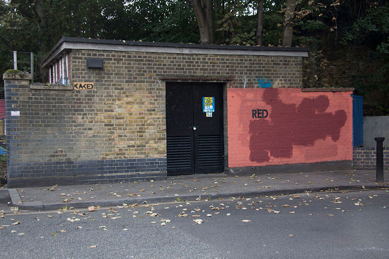 Street Artist mobstr and City Worker Have Year Long Exchange on Red Wall in London (9)
