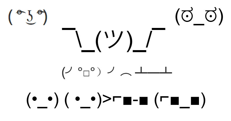 Text symbols faces