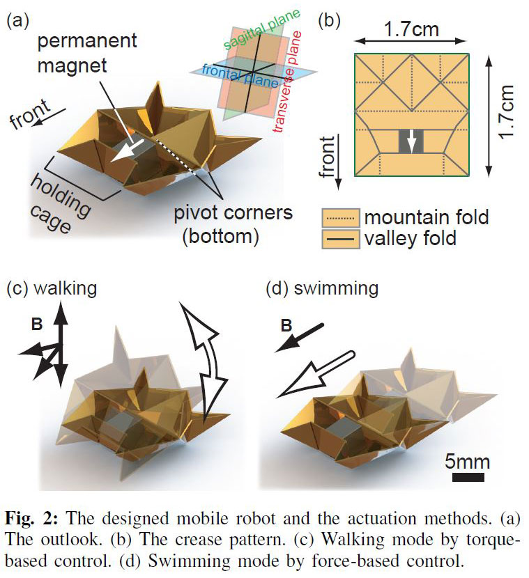 tiny self-folding origami robot can walk swim and degrade (1) �twistedsifter