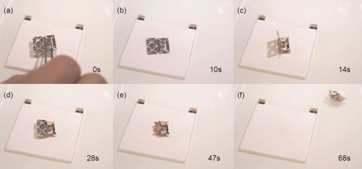 Tiny Self-Folding Origami Robot Can Walk Swim and Degrade (6)