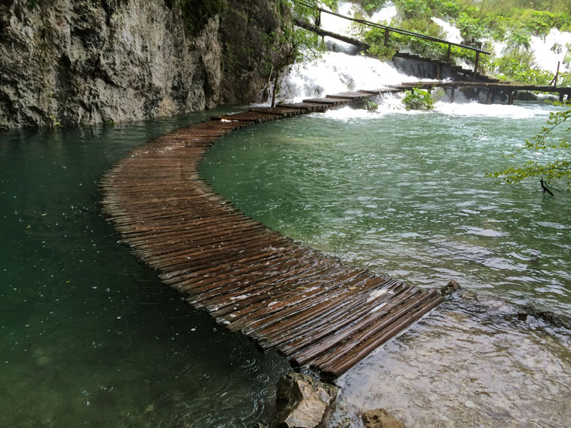 water walkway plitvice lakes national park croatia