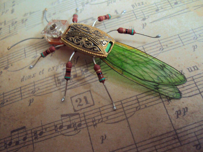 winged insects made from discarded electronics (10)