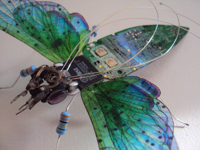 winged insects made from discarded electronics (12)