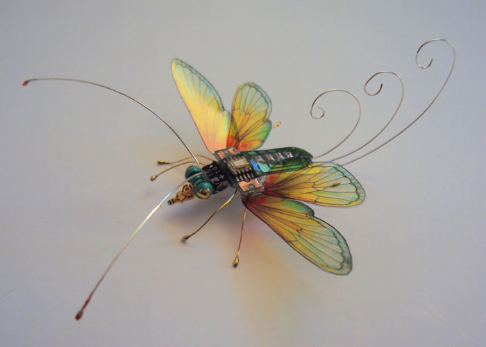 winged insects made from discarded electronics (15)