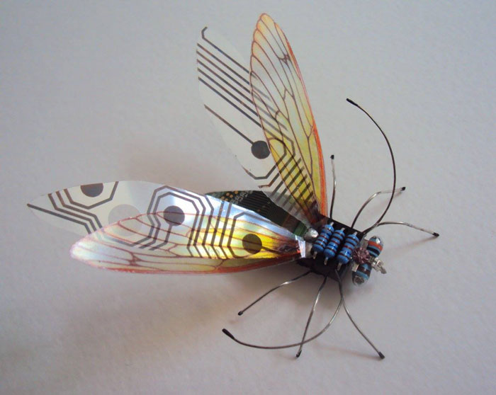 winged insects made from discarded electronics (4)
