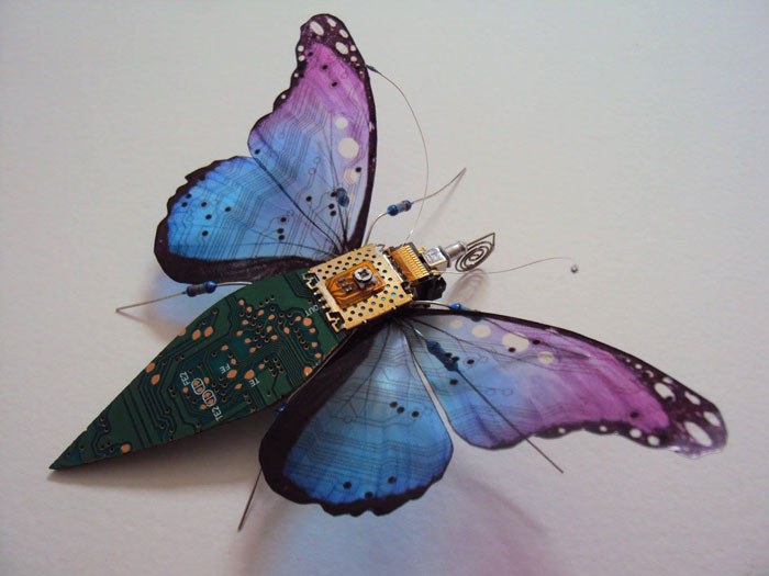 winged insects made from discarded electronics (5)