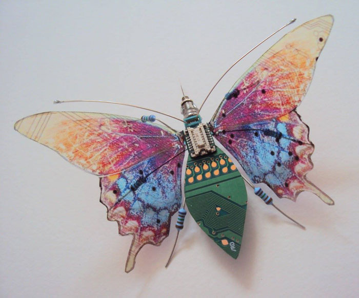 winged insects made from discarded electronics (7)