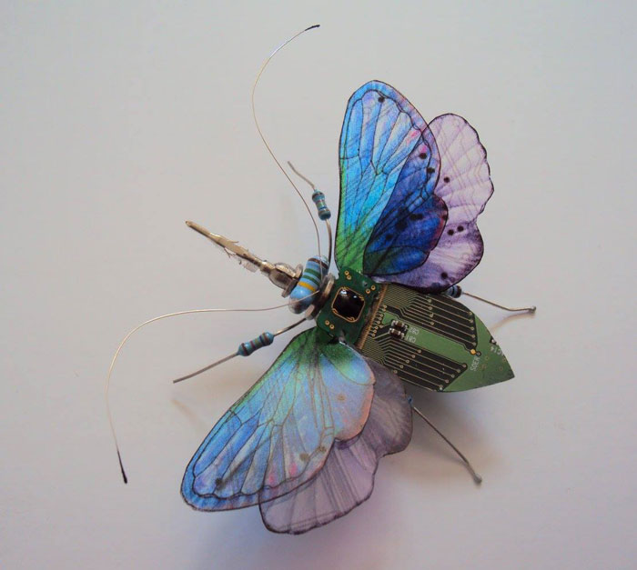 winged insects made from discarded electronics (9)
