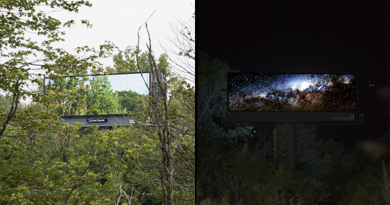 Artist Buys a Month of Digital Billboard Space to Display Nature Photos