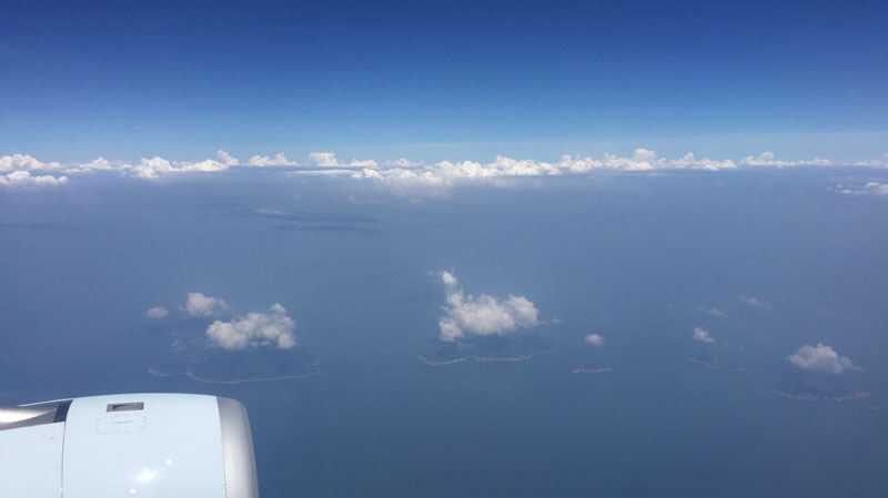 clouds to scale over different sized islands Picture of the Day: Clouds to Scale