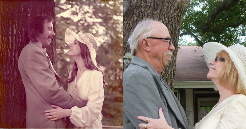 Couple-Celebrates-their-40th-by-Recreating-Photos-from-their-Wedding-Day-(8)
