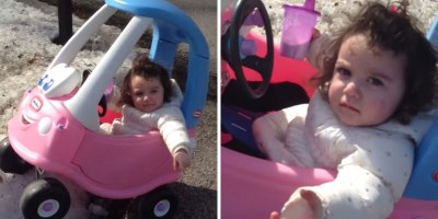 Dad Busts Daughter for Drinking and Driving in Her ToyCar