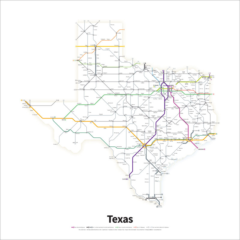 Every Us Highway Drawn In The Style Of A Transit Map Twistedsifter - Us-highway-2-map