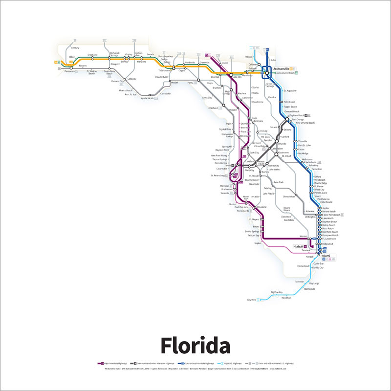 Every US Highway Drawn in the Style of a Transit Map by cameron booth (4)