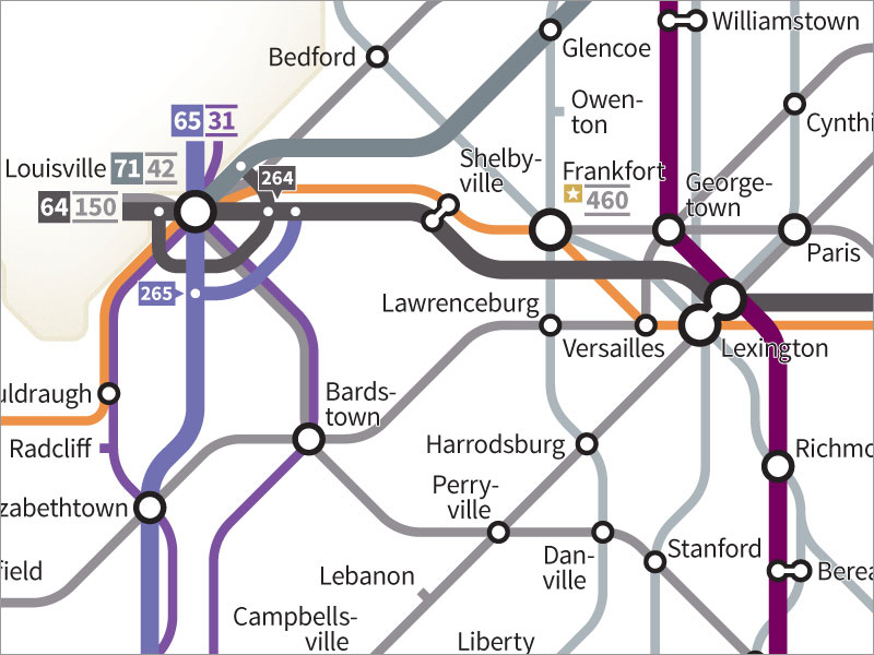 Every Us Highway Drawn In The Style Of A Transit Map By Cameron - Us-highway-71-map