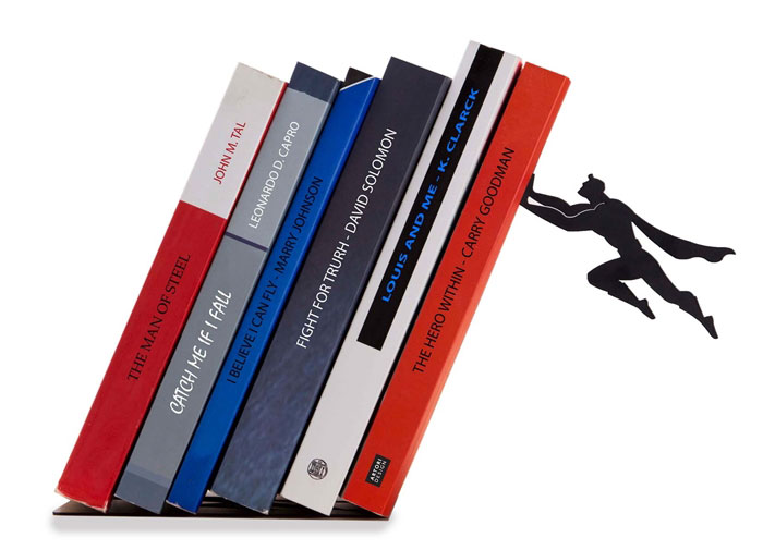 Floating Bookshelves Held Up By Superheroes  by artori design (1)