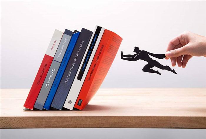 Floating Bookshelves Held Up By Superheroes By Artori Design (3)