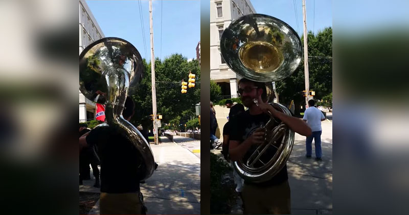 guy-with-giant-sousaphone-follows-kkk-protestors-to-a-march