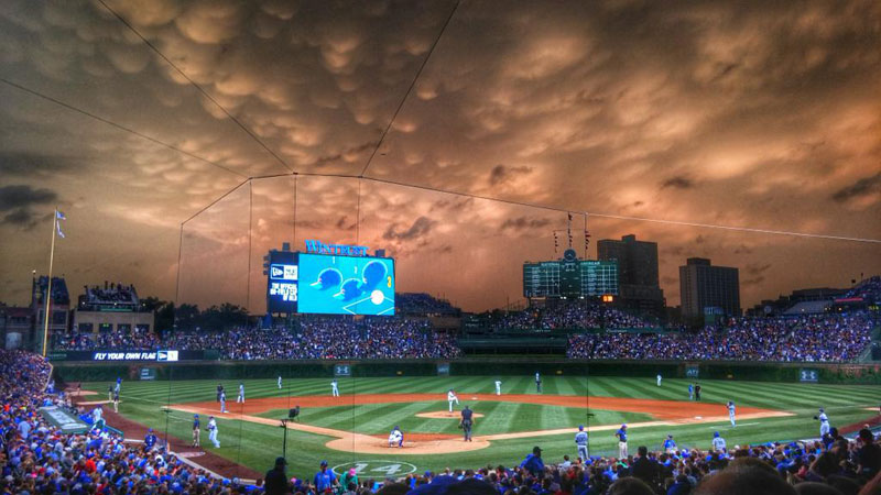 Mammatus Clouds Over Wrigley Field june 2015