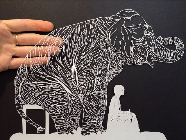 Paper art by maude white 5 twistedsifter for Top knife the art craft of trauma surgery