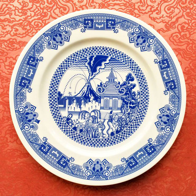 These Porcelain Plate Designs Actually Depict a World of Destruction ...
