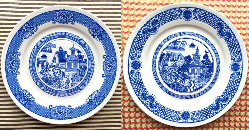 These Porcelain Plate Designs Actually Depict a World of Destruction