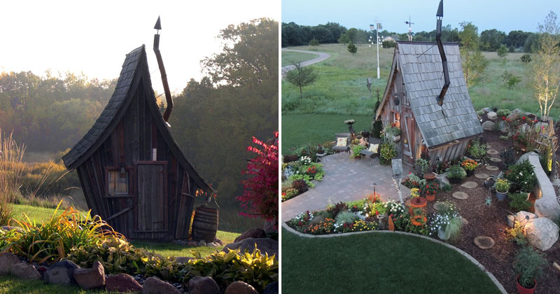 Dan Pauly Builds Amazing Little Cabins You Might Find in a FantasyNovel